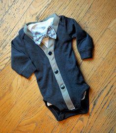 Bleu marine et gris Cardigan noeud papillon Body Body avec papillon damier bleu marine boutons... maintenant disponible manches longues ou courtes et