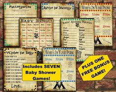 It Isnt A Baby Shower Without Baby Shower Games, And Now You Can Have EIGHT