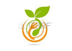 Vegetarian Food Logo, Abstract Fresh Restaurant Symbol Design ...