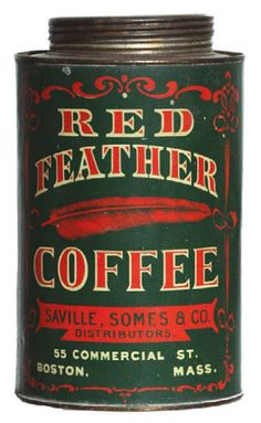 Red Feather Coffee Tin | Antique Advertising Value and Price Guide