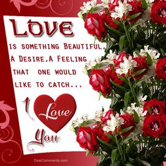 Love Is Something Beautiful A Desire A Feeling That One Would Like To Catch I Love You