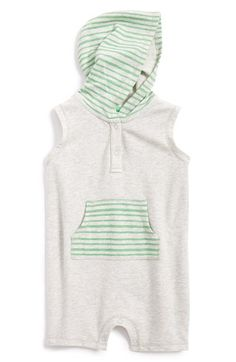 Stem Baby Hooded Organic Cotton Sleeveless Romper (Baby Boys) available at #Nordstrom