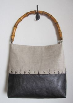 bamboo one handle bag | iichi (Iichi) luscious simple materials with fun bead embroidery