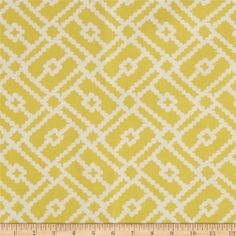 Duralee Pippa Canary - Yellow MBR Curtain Fabric $20.98/yd