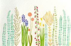 Garden- original watercolor- SALE. $30.00, via Etsy.