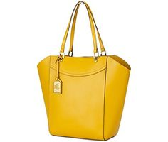 Lauren Ralph Lauren Womens Lexington Tote Amber - Handbag