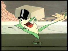 """▶ The Singing Frog Part 1 - YouTube>>>Classic Bugs Bunny! Love it!  Funny to think now how people were up in arms about Bugs Bunny cartoons being so """"violent"""", when you think of how cartoons are NOW."""