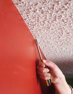 Have The Perfect Room But Stuck With A Ceiling You Donu0027t Love? The Secret  To Getting A Clean Paint Line And Removing Bumps Is, Strangely Enough, ...