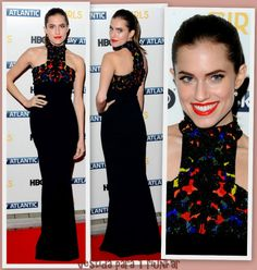 Allison Williams de Alexander McQueen en el estreno de la 3ª temporada de Girls en Londres