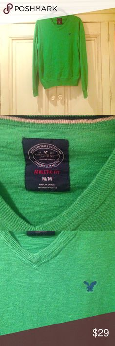 Athletic Fit 100% cotton material, like new.  ✨Any questions, please ask! American Eagle Outfitters Sweaters V-Neck