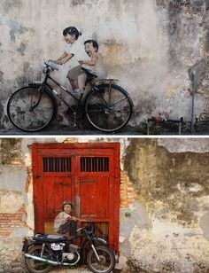 The Malaysian city of Georgetown is full of street art. Such a creative place! #travel #art