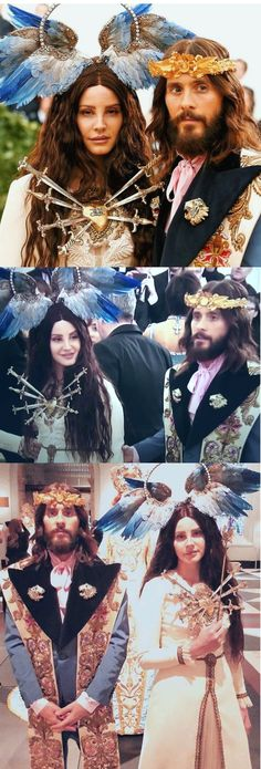 May 7, 2018: Lana Del Rey and Jared Leto wearing custom Gucci at the Met Gala in New York City #LDR