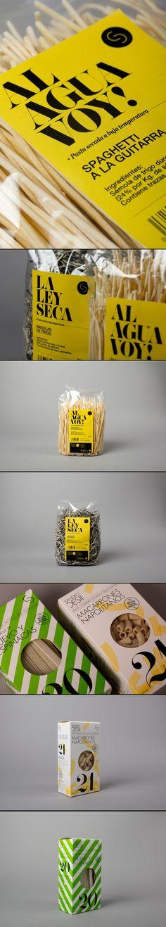 identity and label design for Sandro Desii's pasta