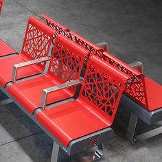 The Freccia Seat is a modular seat, for internal and external use, composed of individual seats in steel sheet with geometrical laser cut decorations. Street Furniture, Metal Furniture, Unique Furniture, Home Decor Furniture, Industrial Furniture, Furniture Design, Door Flower Decoration, Most Comfortable Office Chair, Metal Working Tools