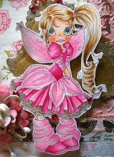 Skin: YR0000,YR000, E21and E11 (R21 and R22 on her cheeks) Hair: E50,E51,E53 and E55 Dress, wings and shoes: RV000,RV00,RV02,RV04,R83 and R81 Ruffle and tights- E40,E41 and a little E42 Eyes: B00, B0000, B52