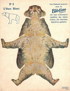 "bledine ours blanc by pilllpat (agence eureka), via Flickr. Advertising folding-cutting offered by ""The Blédine"""
