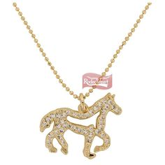 Colar c/ Pingente Cavalo Detalhe em Pedras - Hot Horse: Mulheres