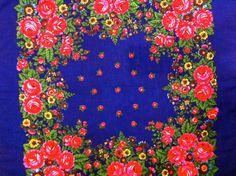 Russian wool shawl Vintage floral wool shawl by Lilivintagebox
