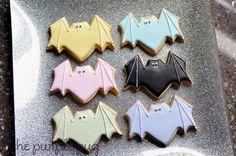 Pastel Halloween: Glittered Bat Cookies The Purple Pug: The Batty Pastel Hipster Halloween Rave 2013