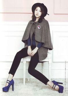 Park Shin Hye  #cape #streetstyle