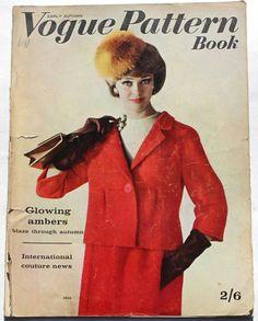 1962 Vogue Pattern Book 60s Paris tailoring tweeds After Six Helmut Newton vtg