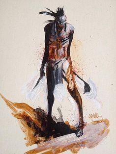 Cromwell - Magua (Le Dernier des Mohicans) Native American Artwork, Bad Art, Illustrations, Collage Art, Comic Art, Nativity, Painting, Comics, History