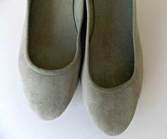 VIVIAN  Ballet Flats  chaussures en daim  38-Light par Lolliette