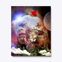 Canvas Art Prints Moon Astrology, Astrology Zodiac, Canvas Art For Sale, Canvas Art Prints, Painting, Painting Art, Paintings, Painted Canvas, Drawings