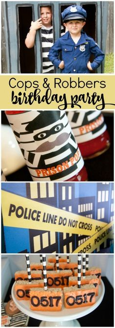 Boy's Cops and Robbers Birthday Party Ideas