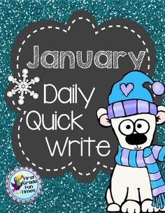 January Quick Writes! Enter for your chance to win 1 of 3.  Quick Writes - January (18 pages) from First Grade Fun Times on TeachersNotebook.com (Ends on on 12-24-2014)  January Quick Writes
