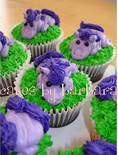 Purple Pony Cupcakes! OMG! Somebody make these for me!