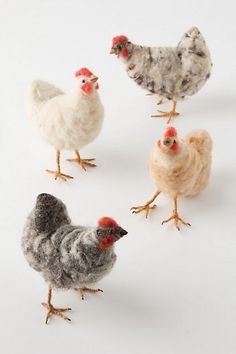 Felted Chickens #anthropologie