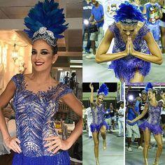WEBSTA @ graciellastarling_oficial - Mais um pq ela ficou Diva #TudoMuitoStarling com #ticianepinheiro ##ticipinheiro ! 💙 para a vila Isabel ! #sapucai #vilaisabel #graciellastarling #altachapelaria #musasgs #carnavalgs #rainhadabateria