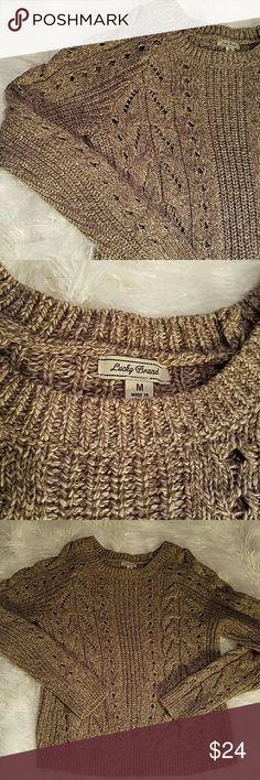 Lucky Brand Sweater size Medium  6% cotton 30% polyester 9% wool  machine wash gently worn condition Lucky Brand Sweaters Crew & Scoop Necks