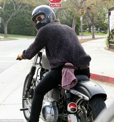 Harry on a motorcycle I think yes