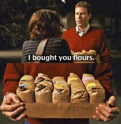 Will Ferrell is amazing. Thid movie is my favorite of all time. He is my idol ♡ I look up to him so much... This part always makes me cry. Its so romantic and seems like somethjng he'd actually do