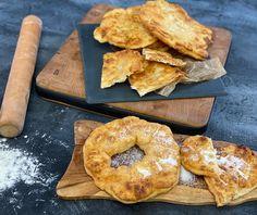 Τηγανόψωμο με φέτα | Συνταγή | Argiro.gr Tea Loaf, Bagel, Doughnut, Feta, Muffins, Appetizers, Breakfast, Desserts, Recipes