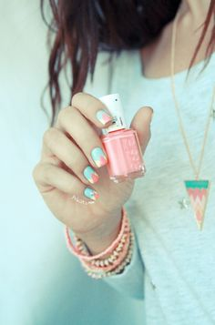 All pastel everything.