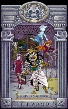 Over the past year or two, I've been commissioned to create some art for a fan-created tarot deck based around an old Scooby-Doo movie, The Ghoul School. Ghoul School Tarot: World Cartoon As Anime, Cartoon Games, Cartoon Shows, Ghoul School, Scooby Doo Movie, Scooby Doo Mystery Incorporated, Cartoon Crossovers, Old Cartoons, Creepy