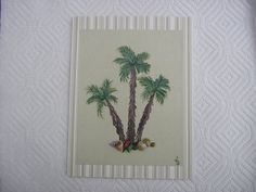 Palm Trees Card Hand Painted Palm Trees With by LisasPaintedCrafts, $5.50