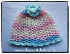 Ravelry: 3D Flower Beanie Toddler pattern by Debi Dearest