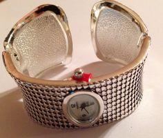 Beautiful Silver Wide Style Bangle Cuff Watch New | eBay