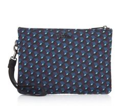 """160903 - Kipling Ellettronico Digital Pouch QVC PRICE: £27.00 + P&P: £3.95 or 2 Easy Pays of £13.50 +P&P in 3 colour options KL SLLETT DIG POUCH Steel Grey Metallic  Detachable wristlet strap Zipped main compartment comprising: zipped pocket, 2 x pouch pockets, pen holder, secure key clasp Digital pouch (h x w x d): 17cm x 24cm x 5cm (6.7"""" x 9.4"""" x 2"""")"""