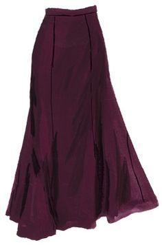 Black English Style Trumpet skirt  ( burgandy too) by J Peterman