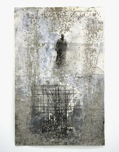 Anselm Kiefer,  Symeon, der Stylit, 2007 Gouache and sand on photography 48.03 x 30.87 in (122 x 78.4 cm)