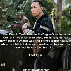I think Donnie's idea was great.  Also, it's interesting how our Asian actors initially didn't want their roles, but their kids convinced them otherwise.  Donnie Yen and Jiang Wen both took their roles because of their kids, which I think is really sweet.