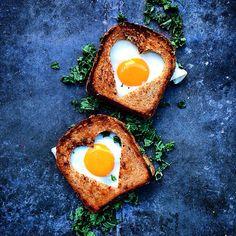 Egg Love #heartshaped #egg #eggs #love #sandwich
