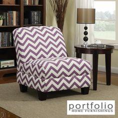Portfolio Alton Purple Chevron Armless Chair | Overstock.com Shopping - Great Deals on PORTFOLIO Chairs