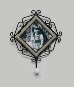 Beautiful Wall Hanging Iron Picture Frame Vintage style, Sublimated tile, Photo gifts, personalized printing Wrought Iron by PHOTOgiftsKALUCAart on Etsy
