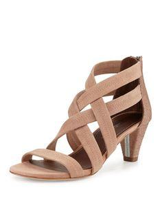 Pinned these shoes because they have a reasonable heel.  I simply cannot wear stilettos at this stage of the game.  I also like the elasticity of the bands .....giving the shoe a secure fit.  Finally ....a wonderful neutral color..